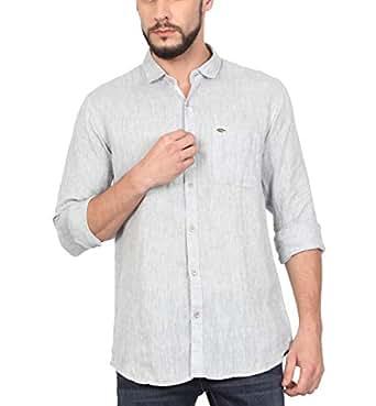 6b2a9c3cf14 NORTH REPUBLIC Men s Plain   Solid Linen Full Sleeves Slim Fit Stylish Casual  Shirt (Light