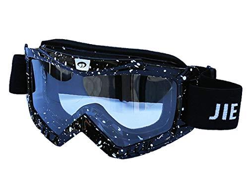 Anyeda Sportbrillen für Fahrräder Unisex PC Schutzaugen Sicherheitsbrille mit Sehstärke Schwarz Weiss