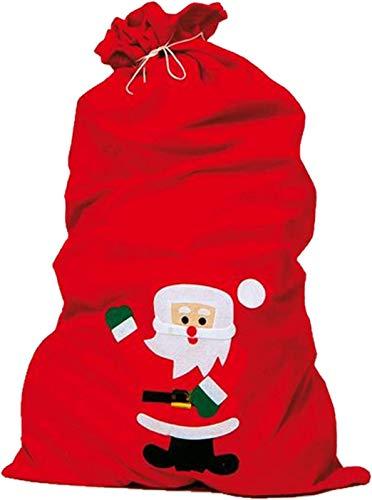 IDEN 858.0196 - Sacco di Babbo Natale in feltro, ca. 90 x 60 cm, colore: rosso
