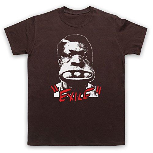 Inspiriert durch Rolling Stones Exile On Main Street Unofficial Herren T-Shirt Braun