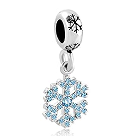 LuckyClover Jewellery Snowflake Charm Fit Pandora Charm Bracelets