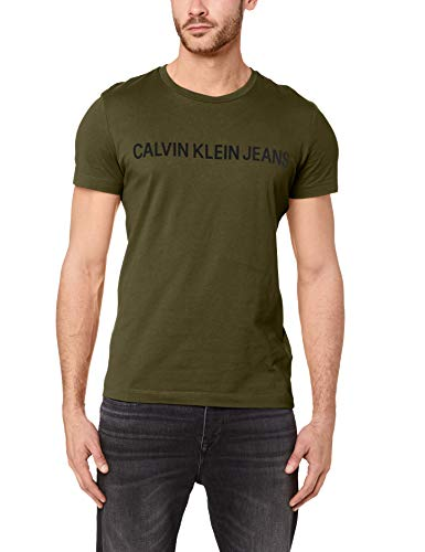 Calvin klein jeans institutional logo slim t-shirt grape leaf/black