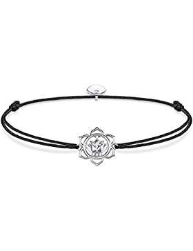Thomas Sabo Damen-Armband Little Secrets 925 Sterling Silber Schwarz LS015-401-11-L20v