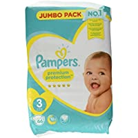 Pampers Premium Protection Windeln Jumbopack, Gr. 3 Maxi (6-10 kg), 1er Pack (1 x 66 Stück)
