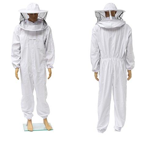 CAMTOA Tuta Apicoltura con Cappello Rotondo e Velo Doppia Cerchio, Beekeeping Bee Suit, Apicoltura di protezione per Apicoltori Professionisti e Principianti(XL / XXL/ XXXL ) XXL