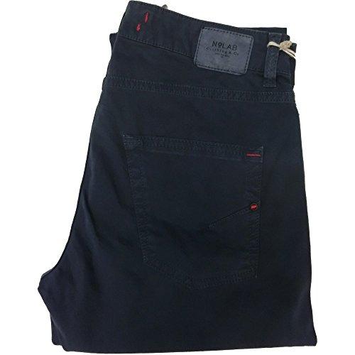 No Lab pantalone uomo 1269 - Elasticizzato 5 tasche 97% cotone 3% elastan, made in italy, Blu (35)