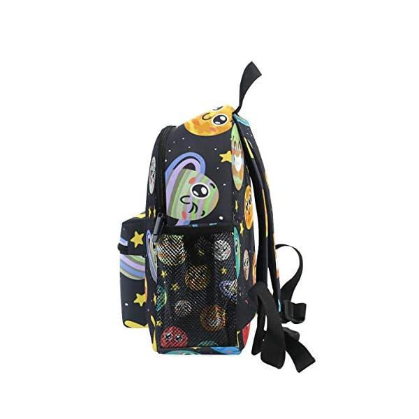 41f2pV68a9L. SS600  - CPYang Mochila para niños con sistema solar Planet Emoji School Bag Kindergarten Preescolar Mochila para niños y niñas