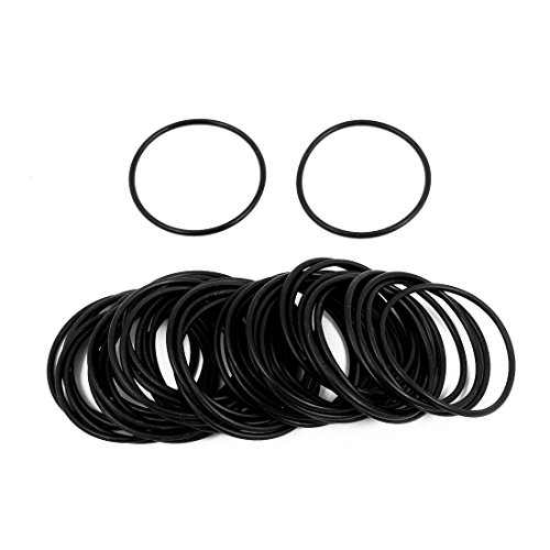 Generic 50 Pcs 33mm x 1.5mm Rubber O-rings NBR Heat Resistant Sealing Ring Grommets