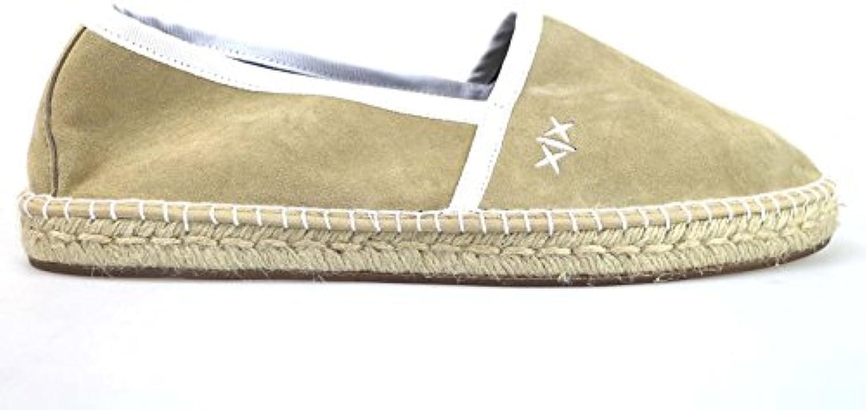 Zapatos Hombre Escadrille 46 Espadrillas Beige Blanco Textil AM893  -
