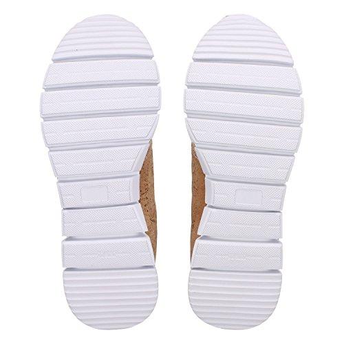 ZWEIGUT Hamburg- Echt #408 vegane Kork-Sneaker mit Flexibler Laufsohle Unisex Schuhe, Schuhgröße:42, Farbe:Beige-Kork - 6