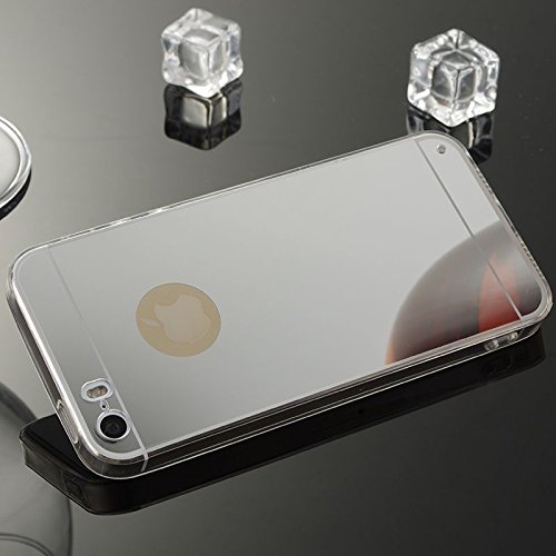 For IPHONE 5S/SE[MIRROR]Scratch-Proof Ultra Thin Rubber Gel TPU Soft Silicone Bumper Case Cover -MM04 MM04