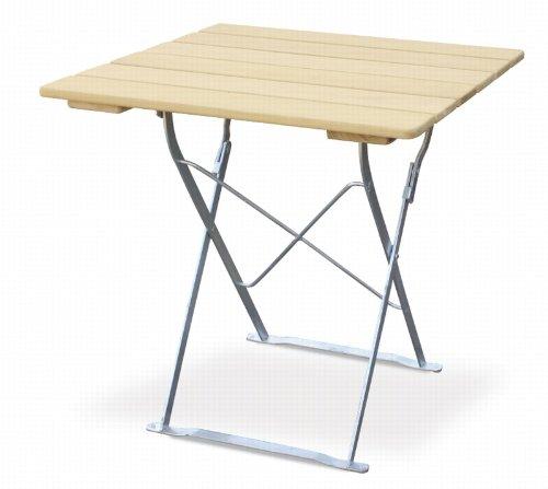 Table de terrasse 70 x 70 cm-edition euroLiving naturel en acier galvanisé