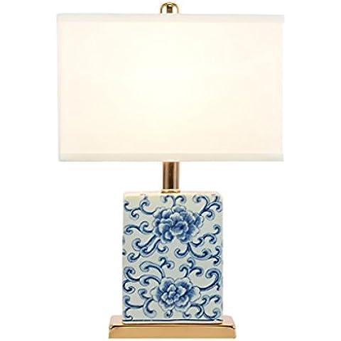 Inicio Monopoly Lámpara de mesa de cerámica de tela Lámpara de mesa de dormitorio de luz de cabecera