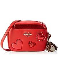 7fa5b01da0 Love Moschino Women s Grain Pu Cross-Body Bag