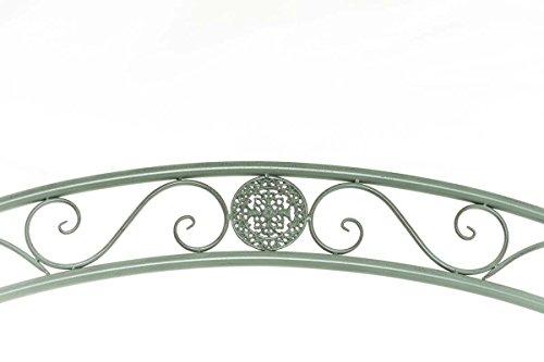 CLP Garten Hollywoodschaukel YLENIA, 2 Sitzer / 3 Sitzer, Landhaus-Stil, Metall (Eisen), bis zu 6 Farben wählbar antik-grün - 3