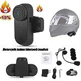 StageOnline Auriculares Bluetooth estéreos inalámbricos para el Casco de la Motocicleta, Kits del Receptor de Cabeza y micrófonos del Speakerphone Accesorio con el Interruptor de botón