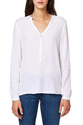Esprit 998ee1f802, Blusa para Mujer, Blanco (White 100), 40 (Talla del Fabricante: 38)