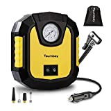 Tsumbay Compresseur d'air Gonfleur Pneu Voiture DC 12V 120w Pompe à Air Portable...