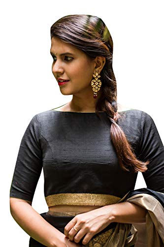 f9abf0d7afe399 Women s Party Wear Readymade Bollywood Designer Indian Style Padded Blouse  for Saree Crop Top Choli Black