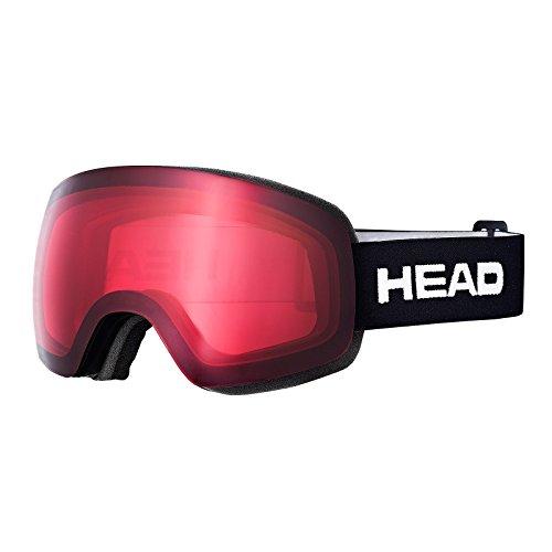 Head globe tvt occhiali da sci, unisex, globe tvt, rosso, taglia unica
