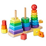 Melissa & Doug- 10567 Impilatore Geometrico, 25 pezzi, Multicolore