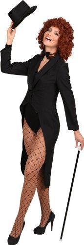 schwarzer Frack zum Damen Show Kostüm an Karneval Fasching Gr.38/40