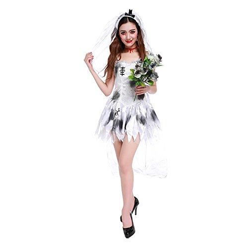 Themen Kostüm Zombie - Kostüm für Erwachsene Halloween Cosplay Ghost Bride Höllengott Weibliche Zombie Spiel Uniform Thema Parteien Kostüm Für Frauengeschenke