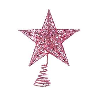 Amosfun-Weihnachtsbaumspitze-Stern-Eisen-Weihnachtsbaum-Stern-Glitzer-Weihnachtsbaumspitze-Party-Stern-Dekoration