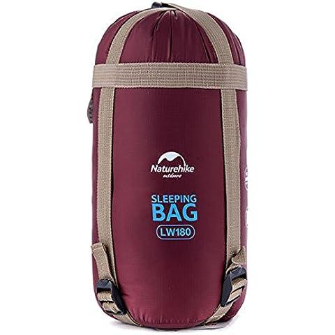 Tipo di busta campeggio Ultralight sacco a pelo in cotone per adulti e bambini da viaggio escursionismo per la primavera estate autunno, Wine Red
