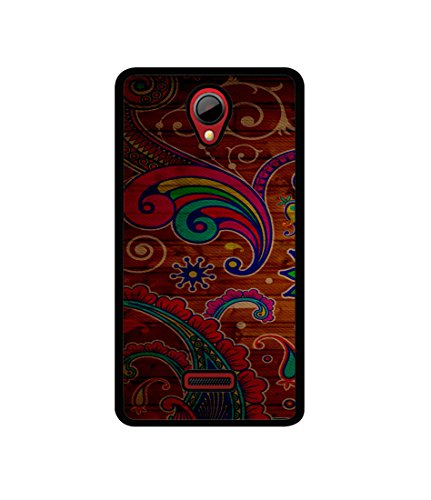 Casotec Wooden Pattern Print Design Canvas Printed Soft TPU Back Case Cover for Micromax Canvas Fun A76  available at amazon for Rs.349