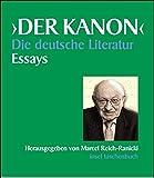 Der Kanon. Die deutsche Literatur. Essays: Fünf Bände und ein Begleitband im Schuber (insel taschenbuch) -