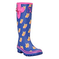 Ladies Evercreatures Nature Inspired Multi Patterned Tall Wellies Wellington Boots - (UK 3-8)