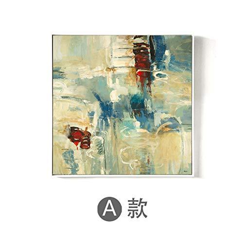 zlhcich Abstrakte dekorative Malerei Hotel Hotel Gang Ölgemälde Spray Painting Kern Erde Textur A 40x40cm