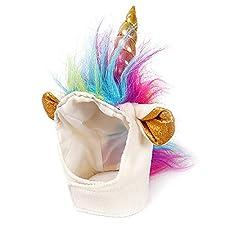 Katzen-Einhorn-Hut Einhorn-Kostüm für kleinen Hund-Katze-Welpen Novel Lustige Adjustabale Cosplay Mane Hut Kopfbedeckung Für Halloween Festival-Geburtstags-Thema-Partei-Foto Props