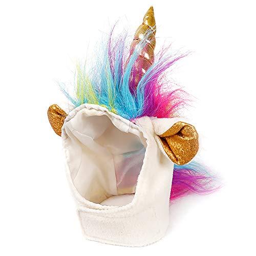 Cat Kostüm Einhorn - Cat Unicorn hat Einhorn-Kostüm für Kleine Hunde Katze Welpen Roman lustige adjustabale Cosplay Mane hat Kopfbedeckung für Halloween-Festival Geburtstags Thema Party Foto-Requisiten