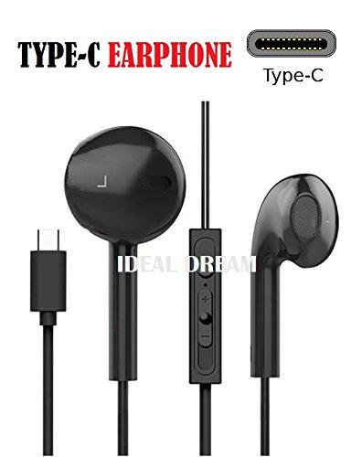 Ideal Dream USB 3.1 Type C 3D Música Auricular con Mic para No AUX Audio Tipo C XiaoMi Mi A2/8 SE/8, LeEco Le 2/S3/2 Pro/Pro3/Pro3 AI/Pro3 Elite/MAX 2