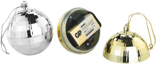 VisorTech Feuer-Alarme: Unauffälliger Hitzemelder in Weihnachtskugelform, Silber (Alternative zu Rauchmelder)