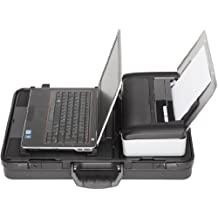 Parat Comlight.Pro - Maletín convertible en base de conexión para portátil e impresora HP Officejet 100, color negro