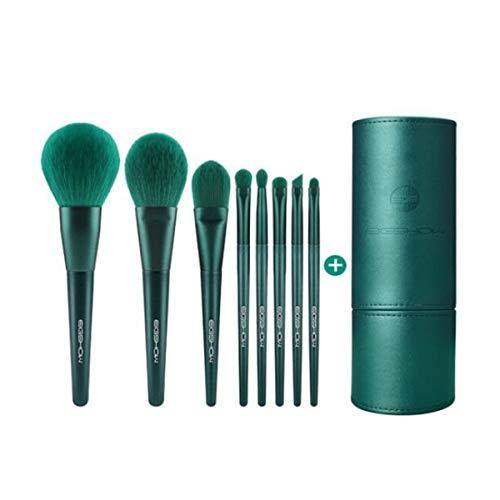 Kaiyitong01 Make-up-Pinsel-Set, weiches Haar Puderpinsel Profi Blooming Lidschattenpinsel Foundation Pinsel, Anfänger voller Satz von Make-up-Werkzeugen, 8 mit Bürste-Bag,Tragbare Mode
