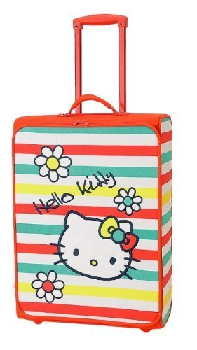 Hello Kitty Rollkoffer 'Bright Colours'gestreift, groß (Kitty Rolling Hello Luggage)