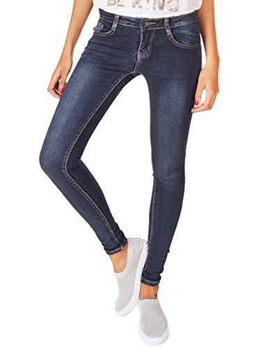 62nd Avenue Damen Super Skinny Jeans Used Dunkelblau 6218 S / 36 (Denim Avenue Jeans)