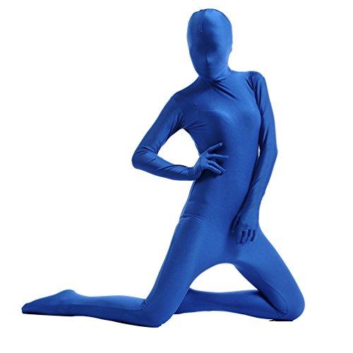 CHENGYANG Unisexe Combinaison Seconde Peau Stretch Fancy Dress Pour Halloween Bleu Foncé