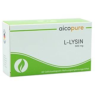L-LYSIN 500 mg • Kapseln • hochdosiert • vegan • Aminosäure • Made in Germany (60 Kapseln)