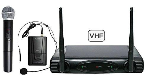 SET 6082 PL-B - Doppio radiomicrofono VHF (gelato + archetto)