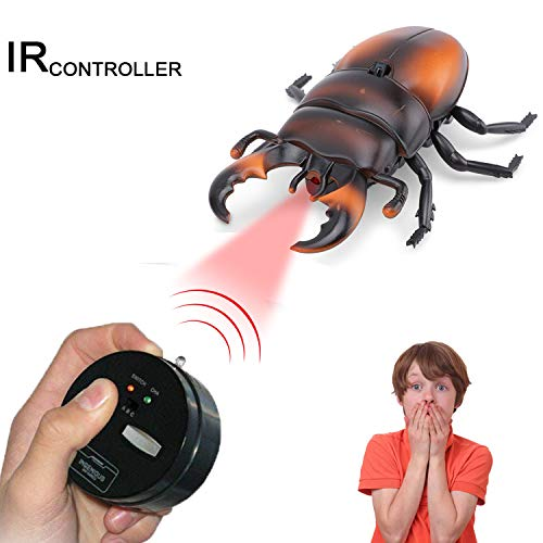 Ferngesteuerter Käfer Spielzeug, Infrarotfernbedienung Gefälschte Käfer Riesen Nashor Käfer Ferngesteuertes Spielzeug Insekten Witz Gruselige Käfer Party Favors, zufällige Farbe ()