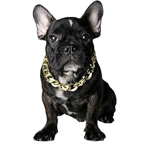FLAdorepet Kubanische Panzerkette für Französische Bulldogge Haustier Katze Hund Halskette für kleine und große Hunde