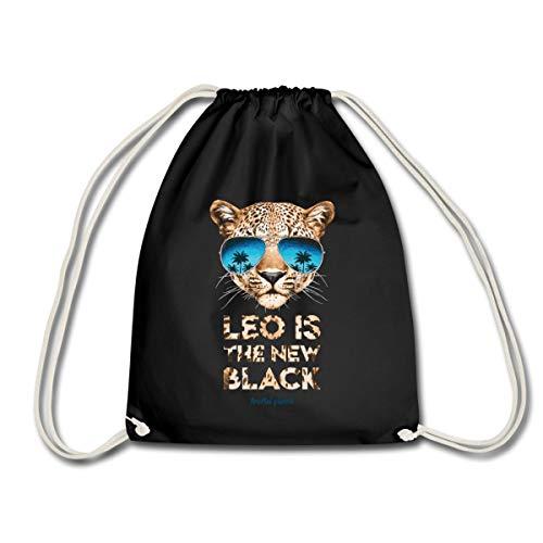 Spreadshirt Animal Planet Leo is the new Black Turnbeutel, Schwarz