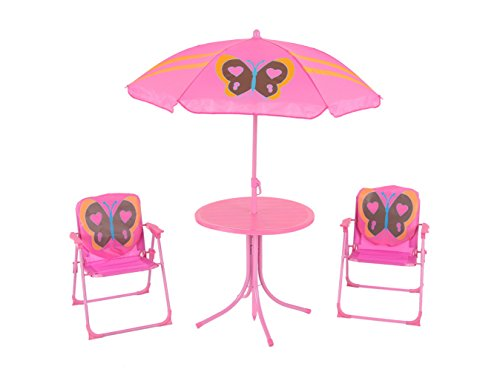 Dajar Gartenmöbel-Sets Schmetterling, rosa