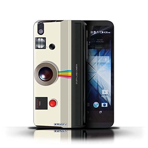 Kobalt® Imprimé Etui / Coque pour HTC Desire 816 / Sportif conception / Série Appareil Photo Instantanée Retro