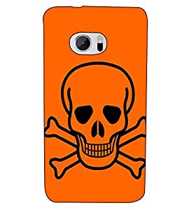 Fuson Designer Back Case Cover for HTC 10 :: HTC One M10 (Danger sign theme)